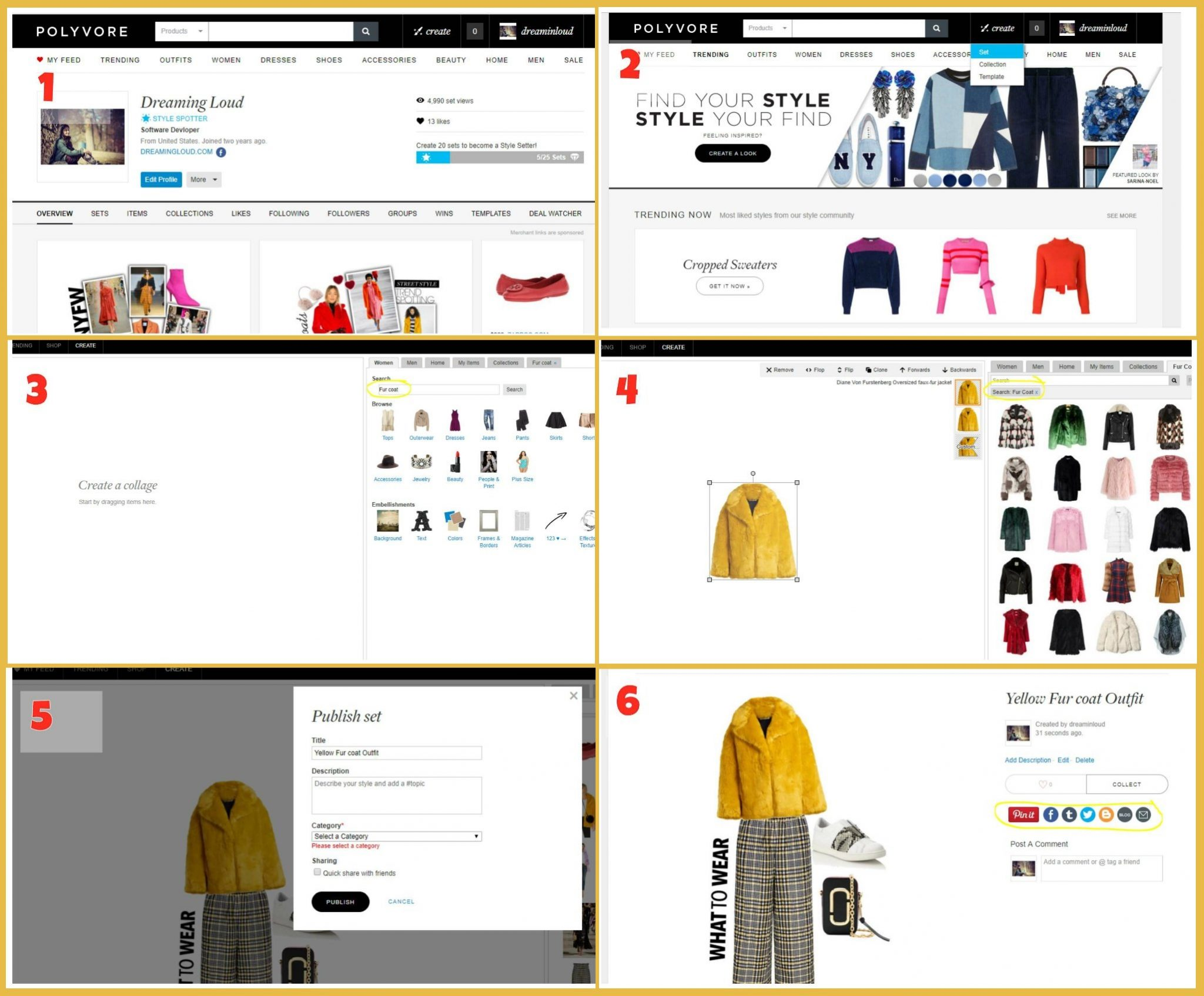 Lifestyle Blog Dreaming Loud sharing how to create sets or collages on Polyvore | How to Use Polyvore featured by popular Ohio modest fashion blogger, Dreaming Loud