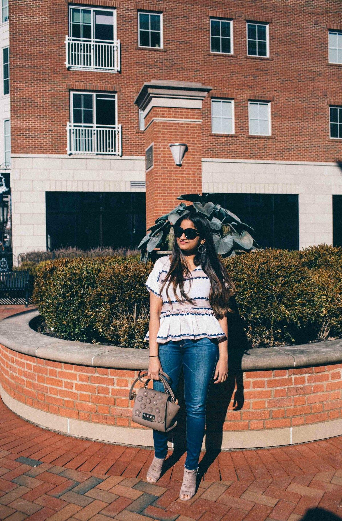 Lifestyle Blog Dreaming Loud wearing Ag legging ankle jeans 7 years break