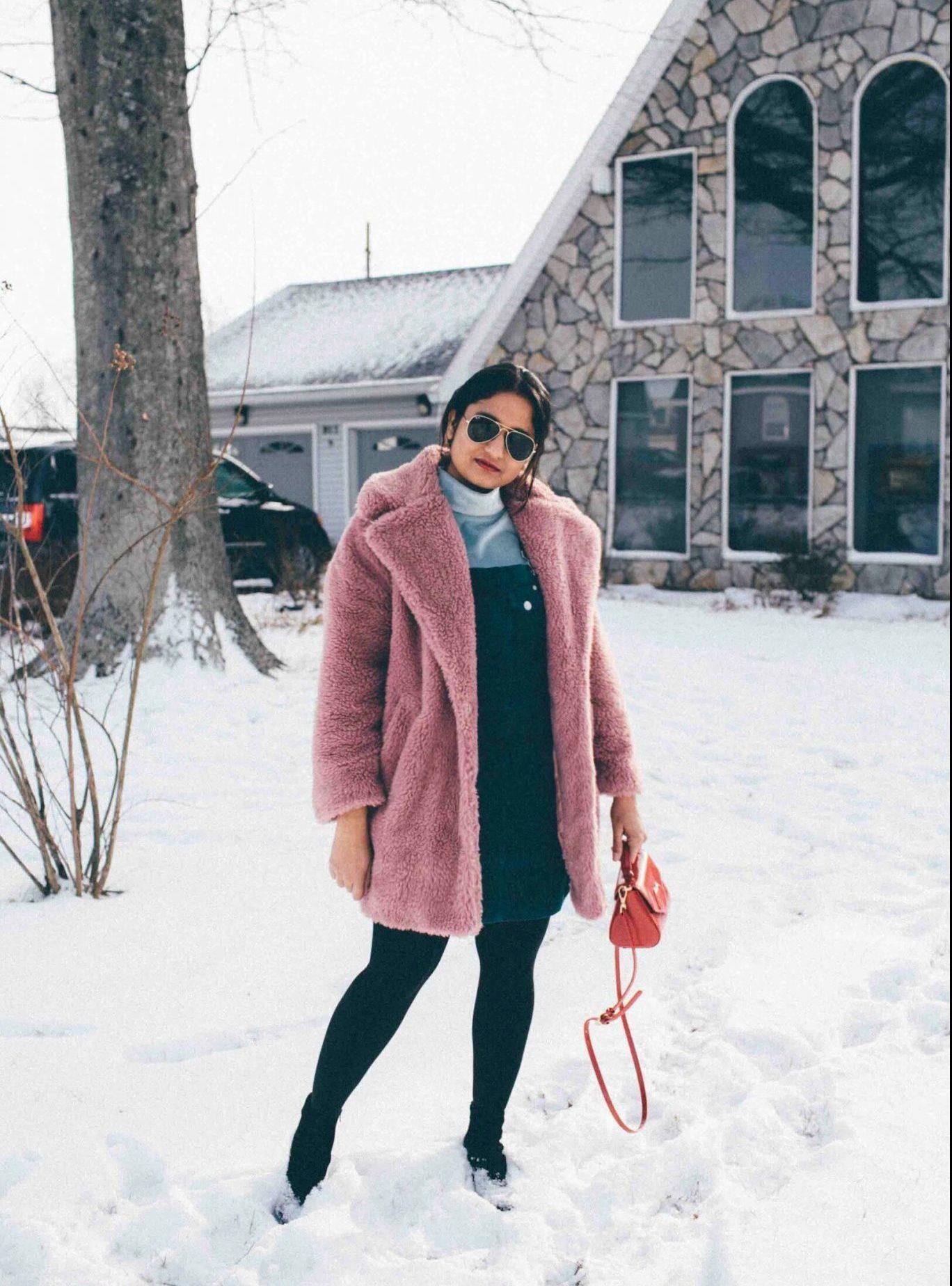 Lifestyle Blog suri wearing topshop faux fur teddy coat