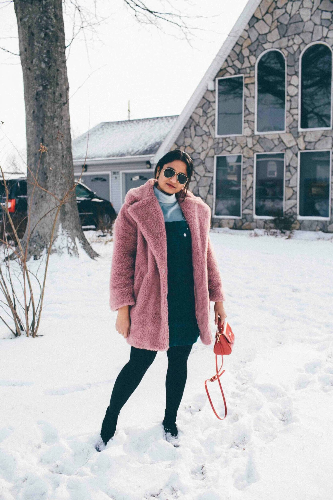 Lifestyle Blog dreaming loud wearing topshop faux fur teddy coat - Best of Presidents Day Sales featured by popular Ohio modest fashion blogger, Dreaming Loud