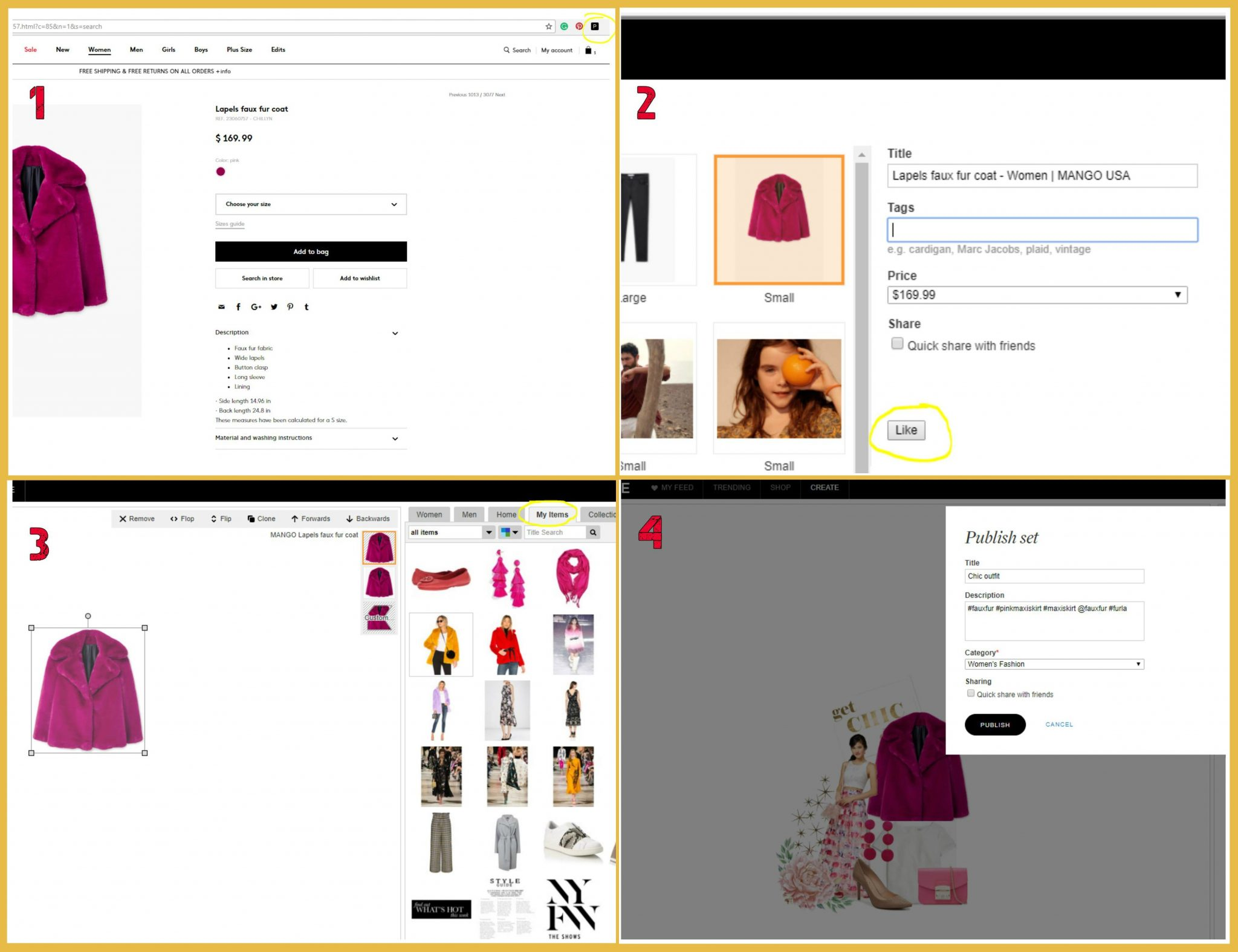 Lifestyle blog dreaming loud sharing how to use polyvore browser clipper or plugin to create sets | How to Use Polyvore featured by popular Ohio modest fashion blogger, Dreaming Loud