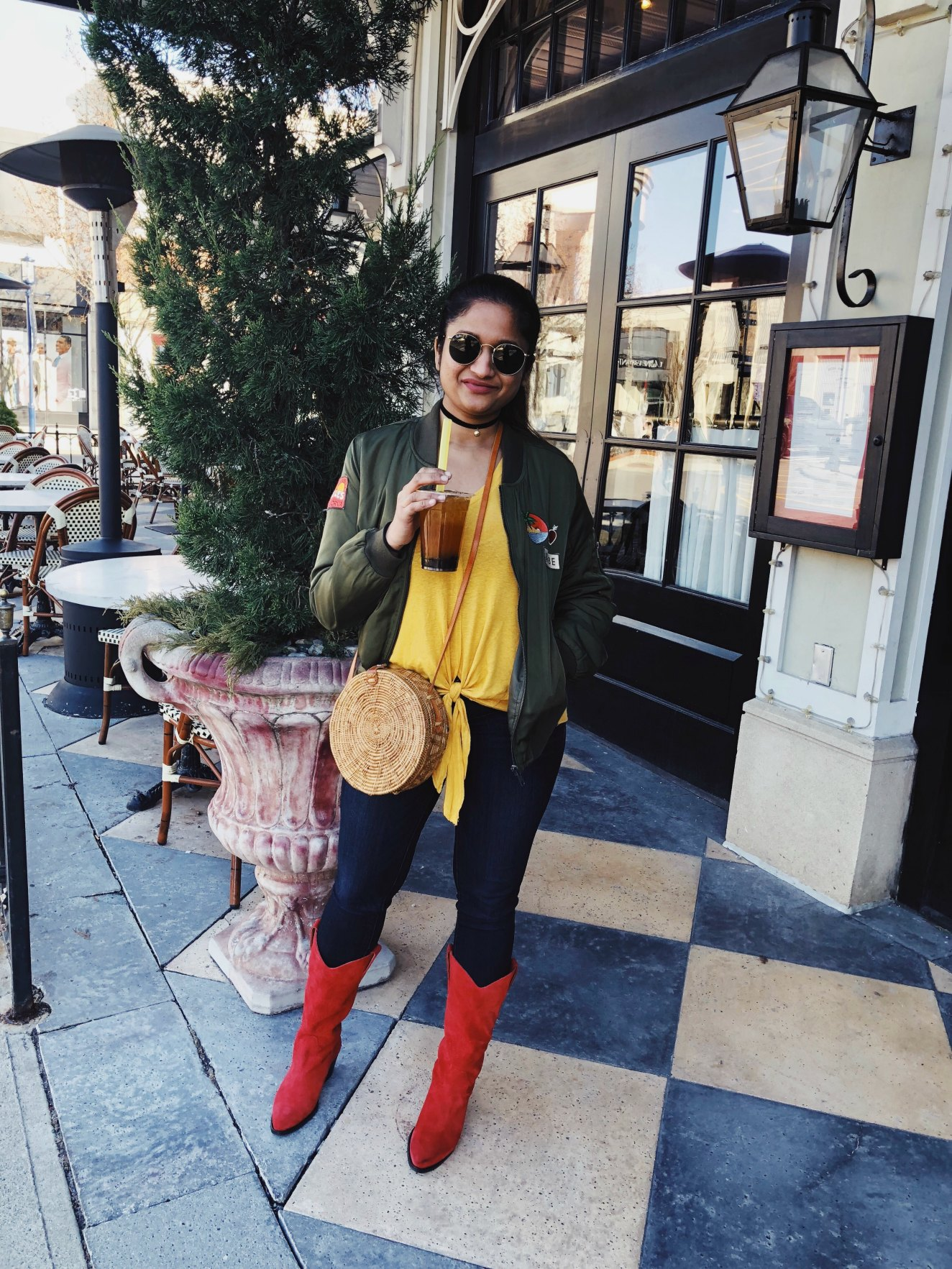 8b2f3660c92 Lifestyle Blog Dreaming Loud sharing how to wear Devious Western cowboy  Boots with jeans and bomber