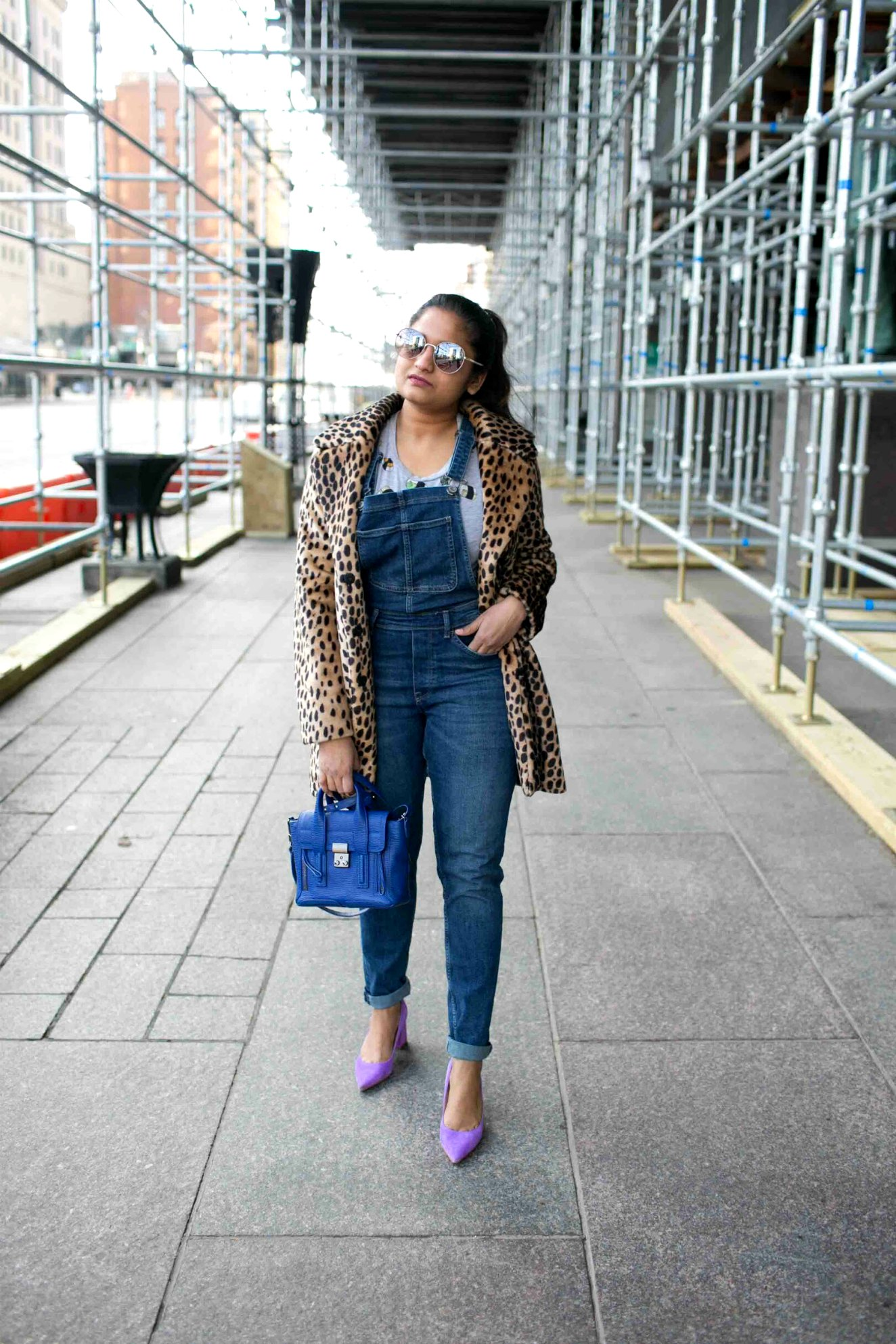 leopard print with bold color outfits | The Leopard Print Trend featured by popular US modest fashion blogger, Dreaming Loud