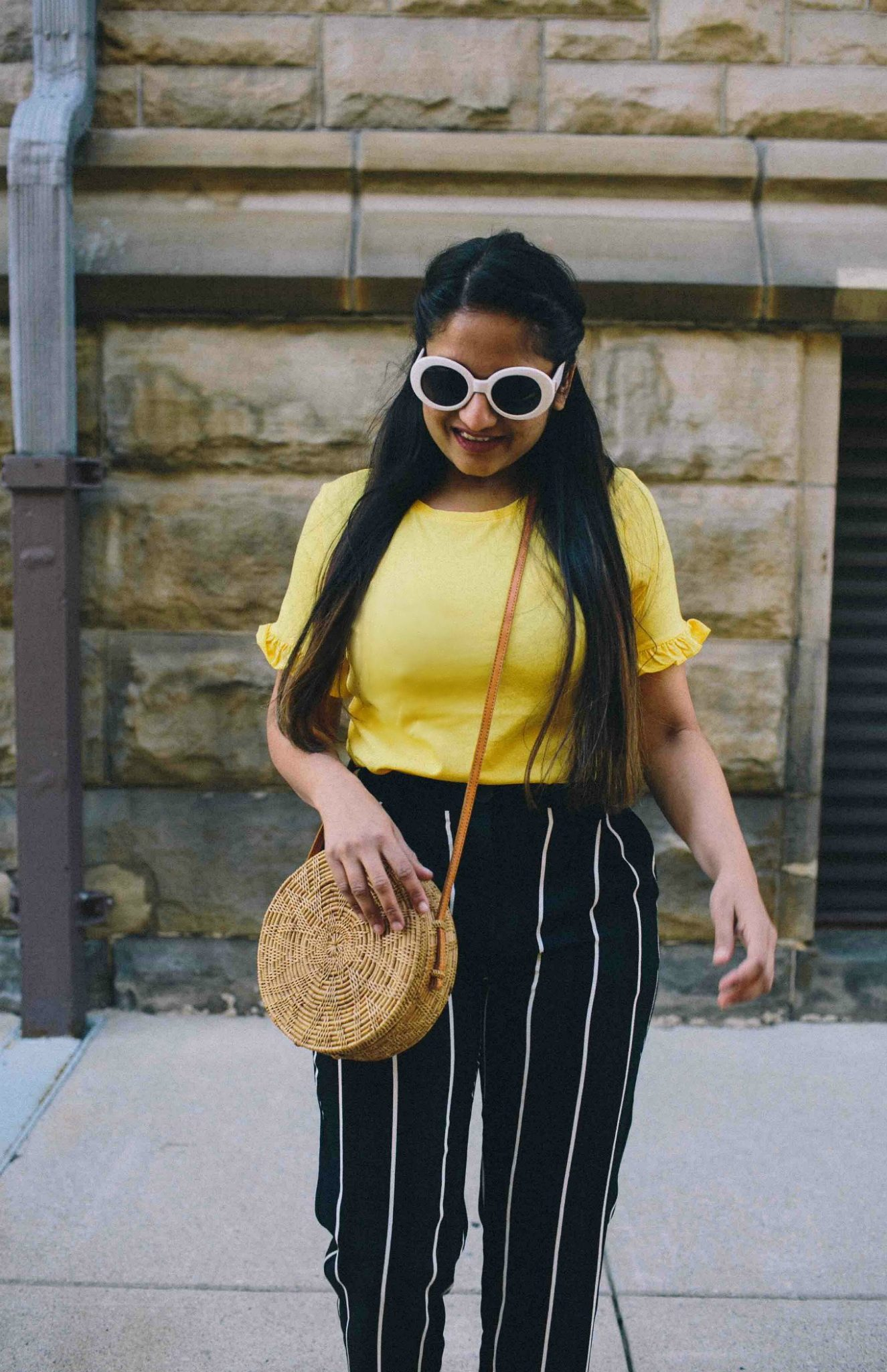 Modest Fashion and Lifestyle blog dreaming loud wearing target who what wear Relaxed Stripe Crop Pants 2