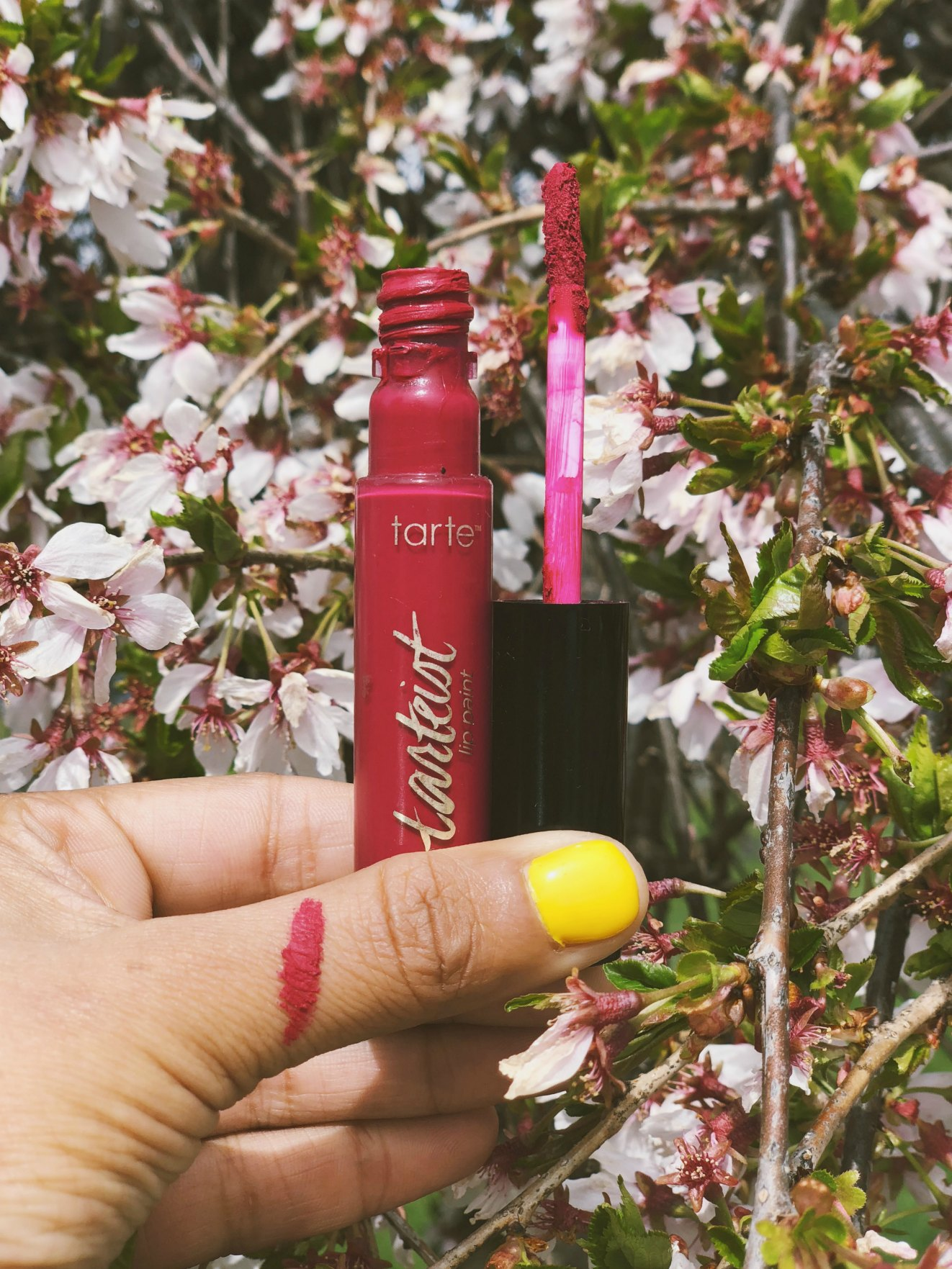 Lifestyle blog dreaming loud sharing Sephora Natural Beauty favorites- tarte Tarteist Creamy Matte Lip Paint in Lovespell - Cruelty Free Beauty Products From Sephora featured by natural beauty blogger, Dreaming Loud