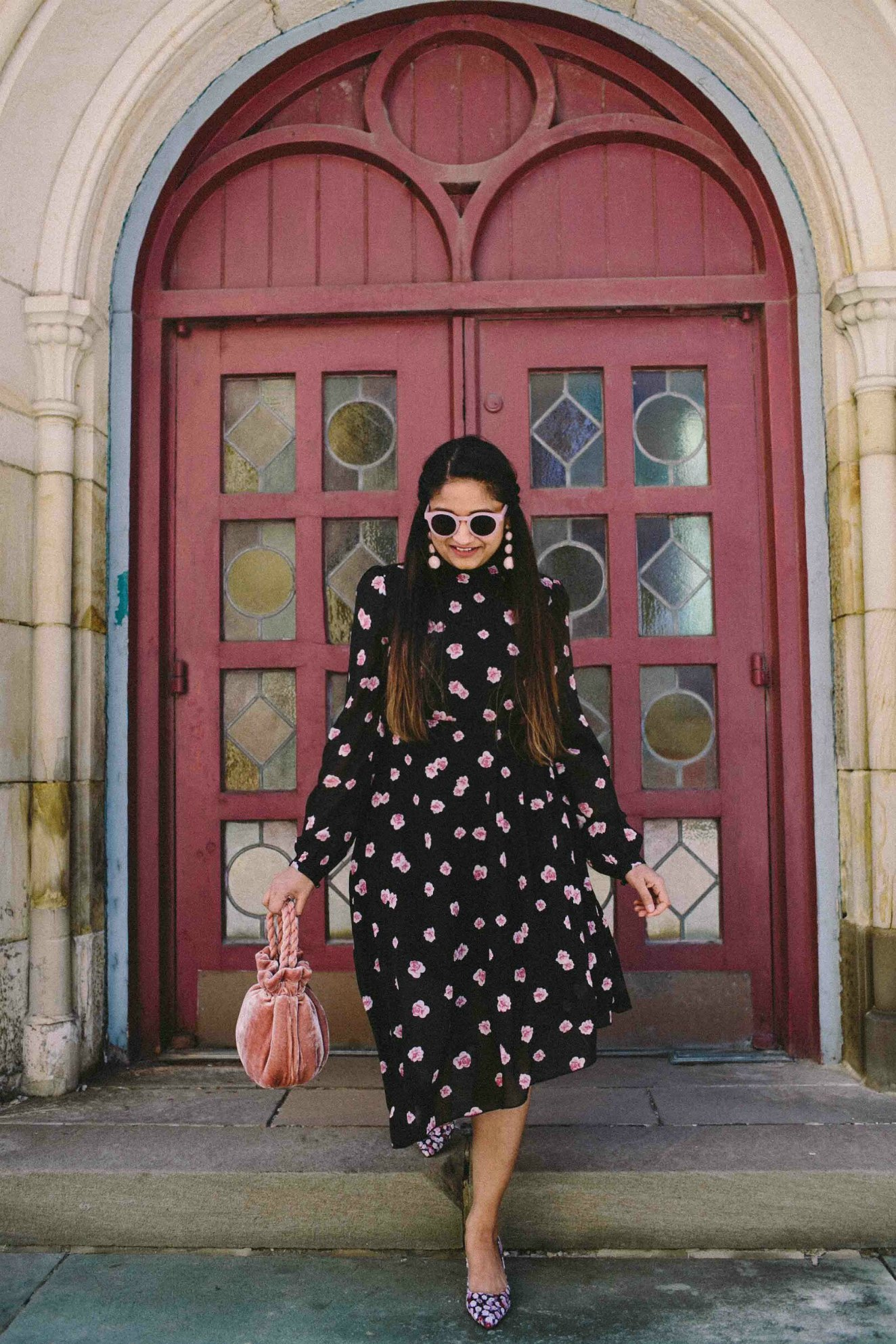 Modest Fashion and Lifestyle blog dreaming loud wearing Na-kd fashion Asymmetric Cut Open Back Floral print Dress 2