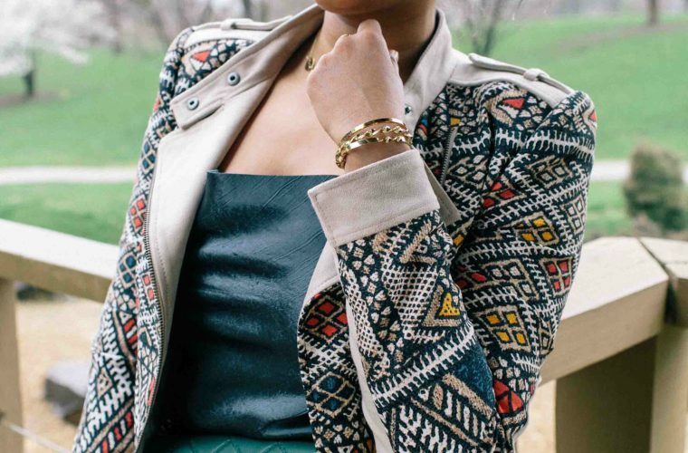 Modest fashion and lifestyle blog dreaming loud wearing bcbg Ziggy Woven Moto Jacket