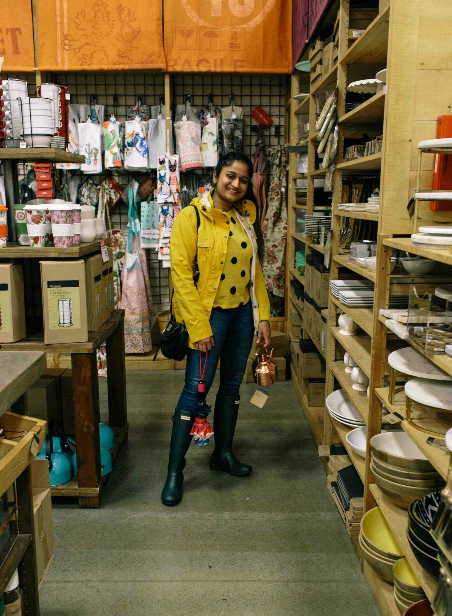 Barbour Rain jacket in yellow-Must Have Spring & Summer Lightweight Jackets featured by popular Ohio modest fashion blogger, Dreaming Loud