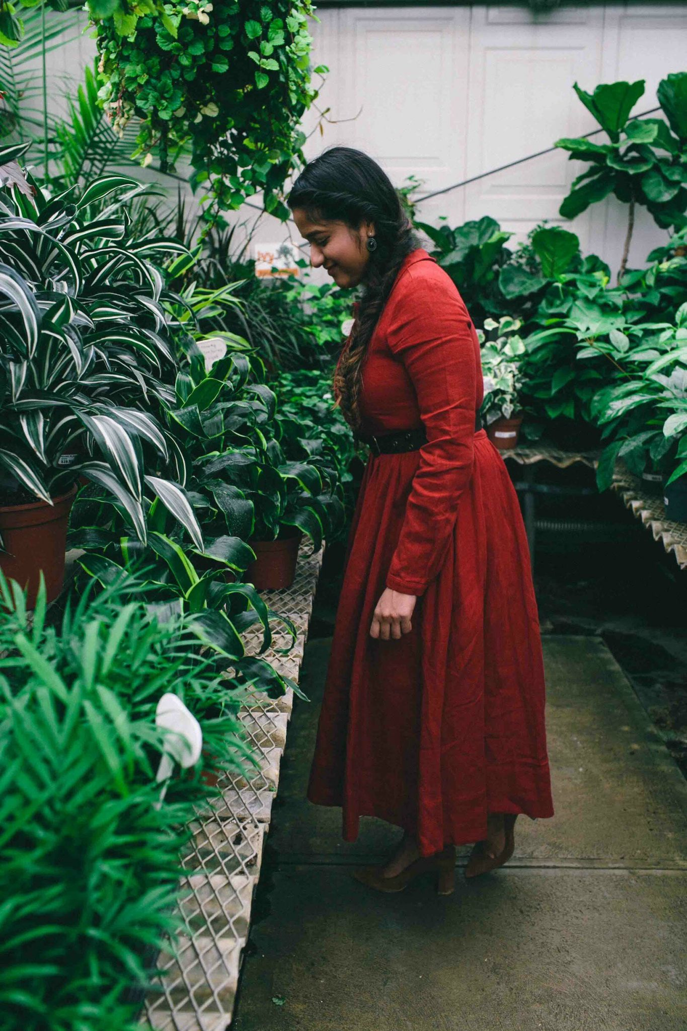 Modest Fashion and Lifestyle Blog dreaming loud wearing Son de flor classic dress long sleeve red poppy dress with Ralph Lauren Polo Leather belt - Son de Flor Classic Linen Dress styled by popular modest fashion blogger, Dreaming Loud.