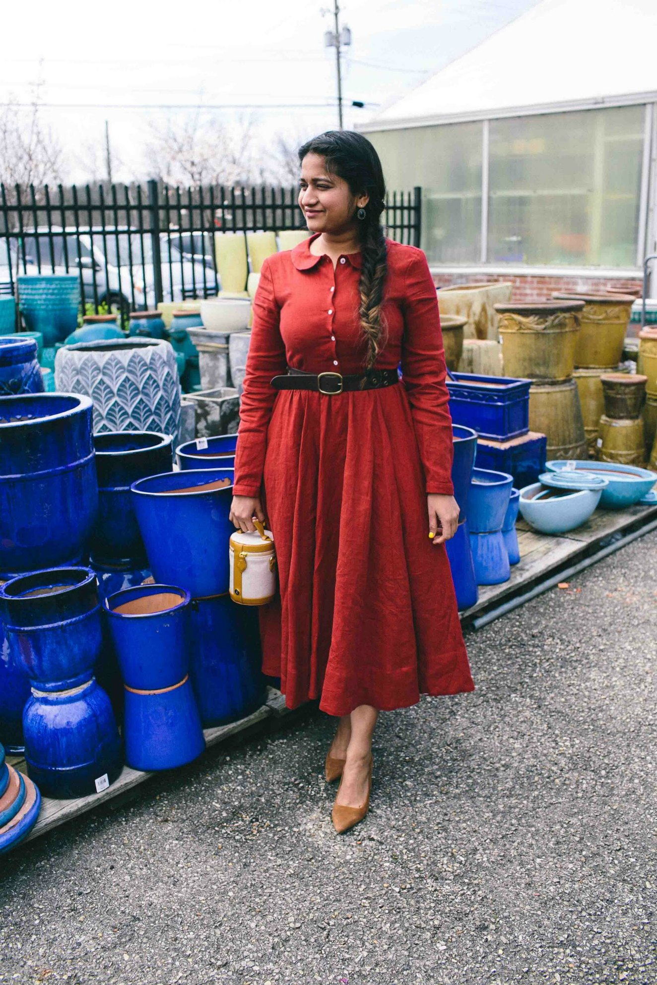 Modest Fashion and Lifestyle blog dreaming loud wearing parallel Crossbody Capsule - Son de Flor Classic Linen Dress styled by popular modest fashion blogger, Dreaming Loud.