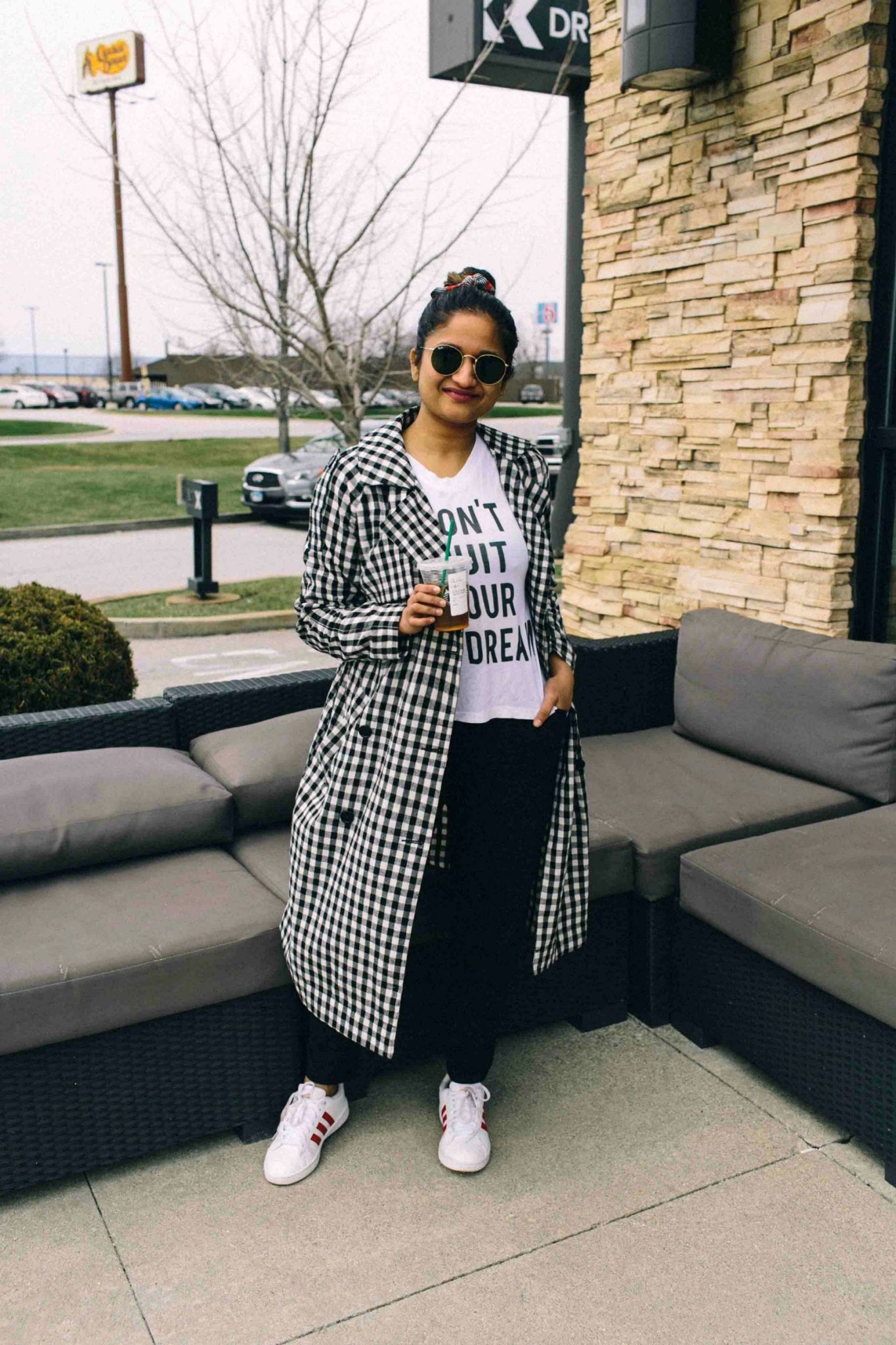 Gingham trench coat-Must Have Spring & Summer Lightweight Jackets featured by popular Ohio modest fashion blogger, Dreaming Loud