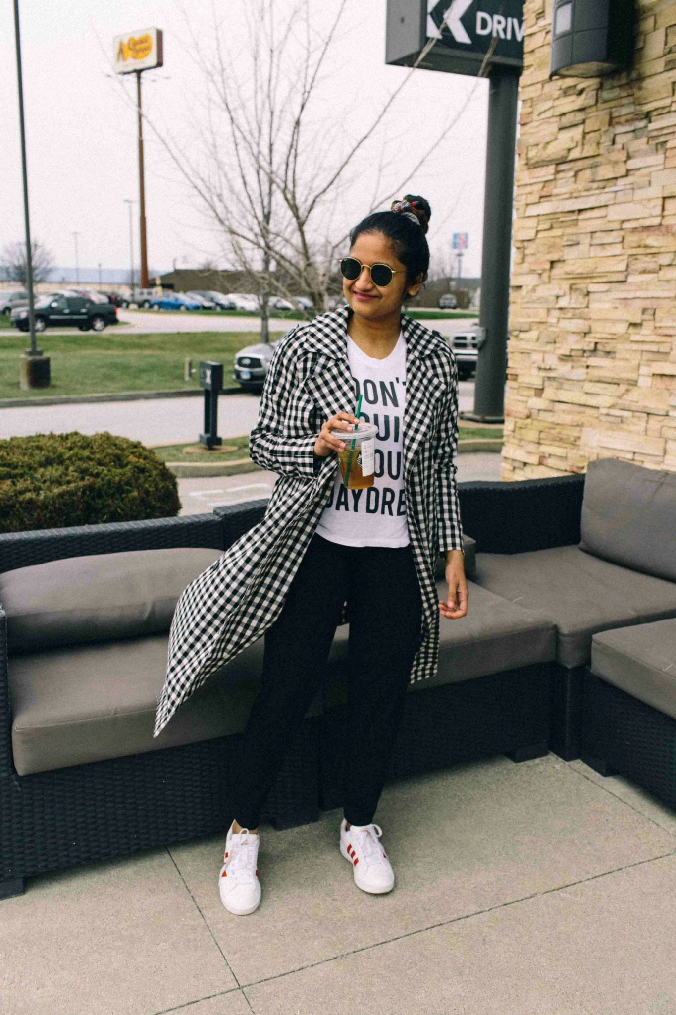 Adidas superstar sneakers-Must Have Spring & Summer Lightweight Jackets featured by popular Ohio modest fashion blogger, Dreaming Loud