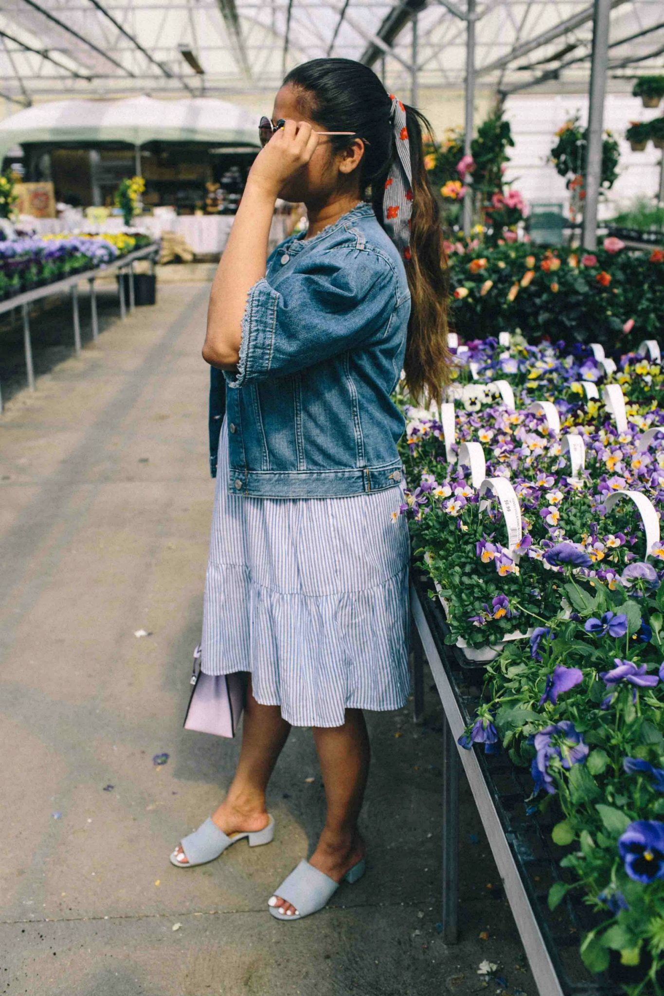 Striped blue dress-Must Have Spring & Summer Lightweight Jackets featured by popular Ohio modest fashion blogger, Dreaming Loud