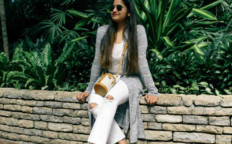 Fresh All White Summer Outfit featured by popular Ohio modest fashion blogger, Dreaming Loud