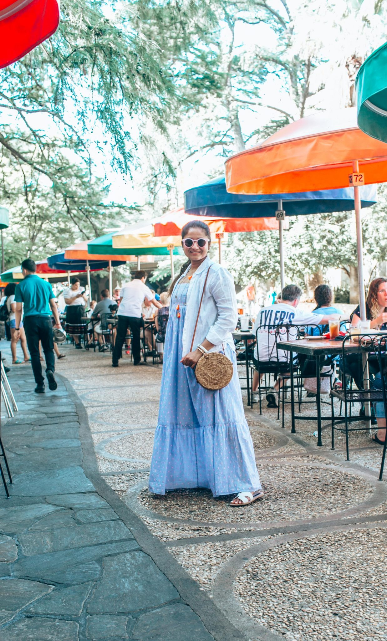 wearing Steven Greece Sandal- A Day in Austin and San Antonio -Attractions, Where to Eat and What to Wear featured by popular Ohio travel blogger, Dreaming Loud
