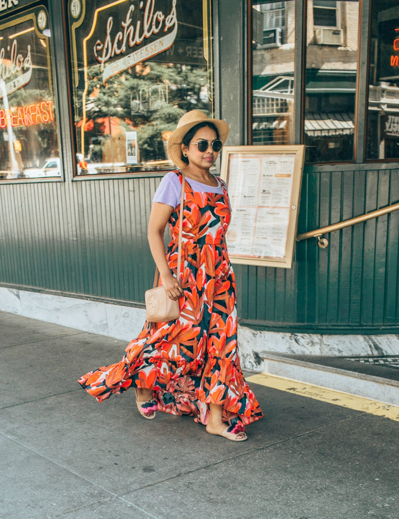 wearing who what wear Sleeveless Ruffle Hem Maxi Tank Dress - A Day in Austin and San Antonio -Attractions, Where to Eat and What to Wear featured by popular Ohio travel blogger, Dreaming Loud