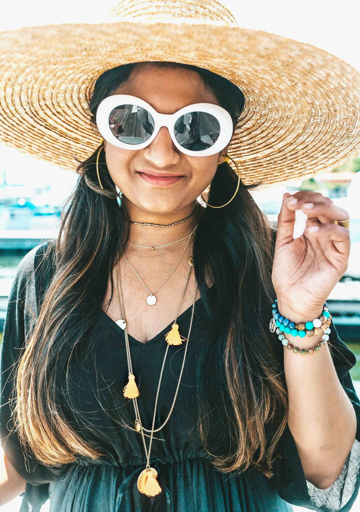 best Layered Necklaces, Accessory trend 2018 | fall accessories featured by popular US modest fashion blogger, Dreaming Loud