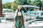 What to wear to a beach getaway - Shein Tropical Print Skirt featured by popular Ohio modest fashion blogger, Dreaming Loud