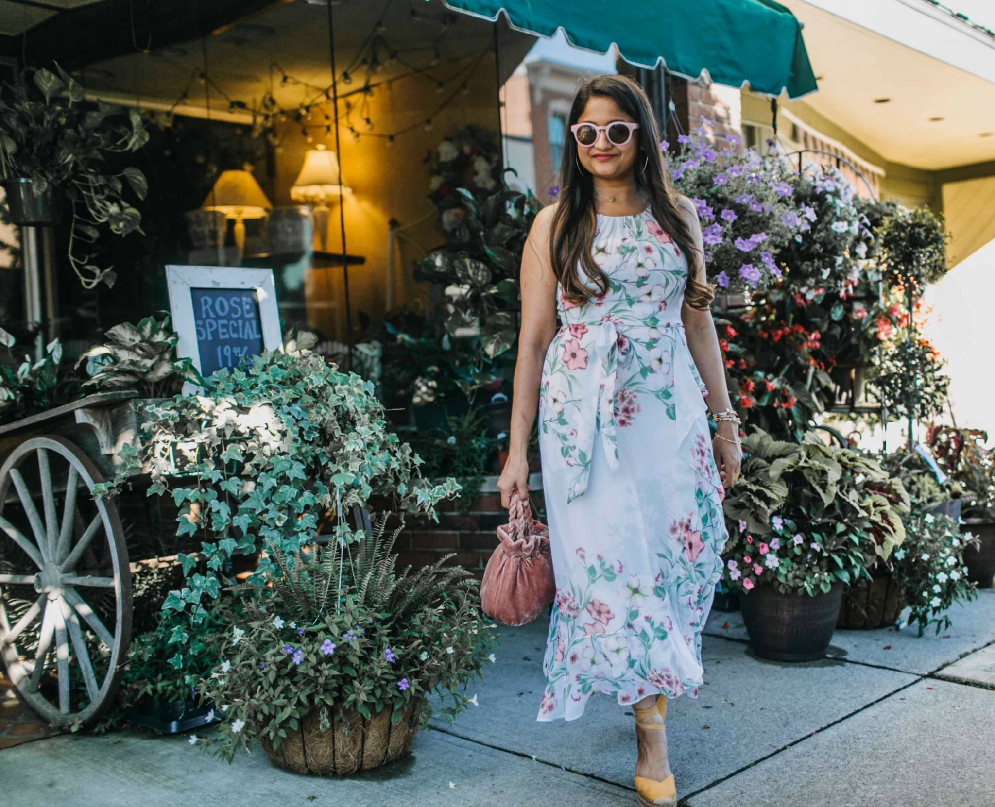 wearing R & K Originals Sleeveless Floral Maxi Dress - JCPenney 3 | | Cute Wedding Guest Dresses for Summer featured by popular US modest fashion blogger, Dreaming Loud