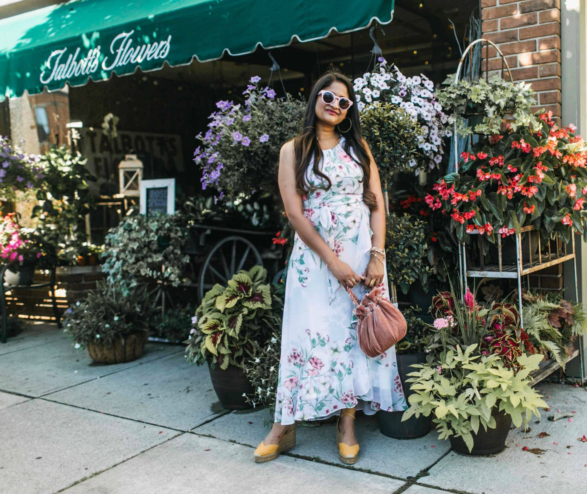 wearing castaner carina wedges in yellow 3 | | Cute Wedding Guest Dresses for Summer featured by popular Ohio modest fashion blogger, Dreaming Loud