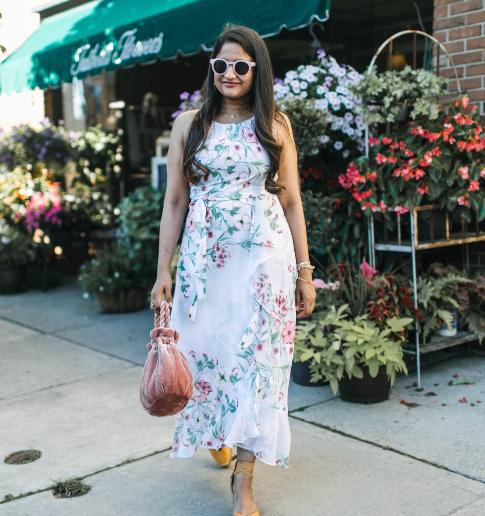 wearing illesteve leonard 2 in pink | | Cute Wedding Guest Dresses for Summer featured by popular Ohio modest fashion blogger, Dreaming Loud