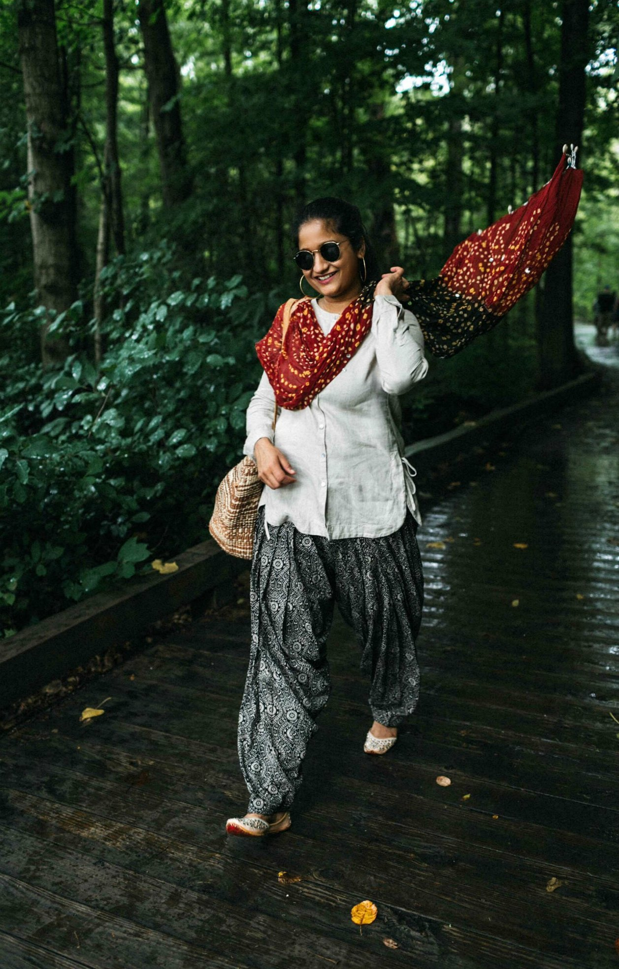 How to put together a Indo western summer outfit with summer trends | 15 Desi / Indian Customs of Mine: wearing patiala pants, featured by popular US fashion blogger, Dreaming Loud
