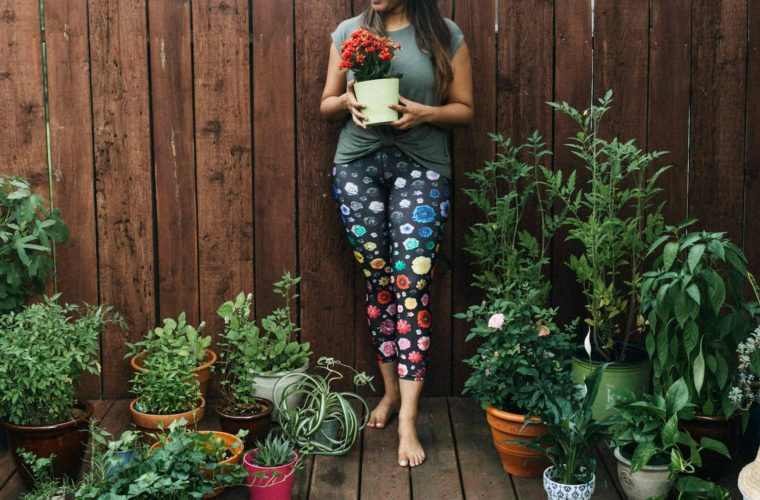 Wearing Terez micro bloom legging | Terez workout leggings featured by popular Ohio modest fashion blogger, Dreaming Loud