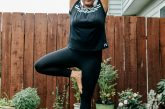 Wearing Women's adidas Essential Midrise Linear Tights from Kohls | Adidas Yoga Clothing featured by Ohio modest fashion blogger, Dreaming Loud