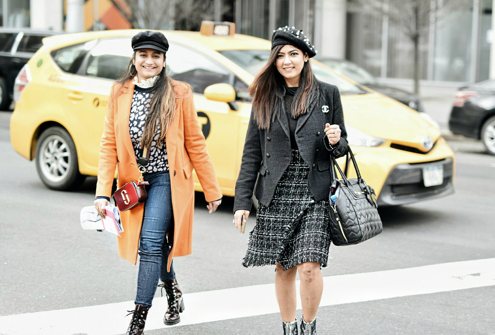Wearing-mango-structured-wool-coat-in-orange | | NYFW outfit featured by popular US modest fashion blogger, Dreaming Loud