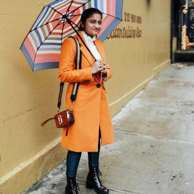 Wearing Mango Structured wool coat with Marc Jacobs Snapshot Small Camera Bag | | NYFW outfit featured by popular Ohio modest fashion blogger, Dreaming Loud