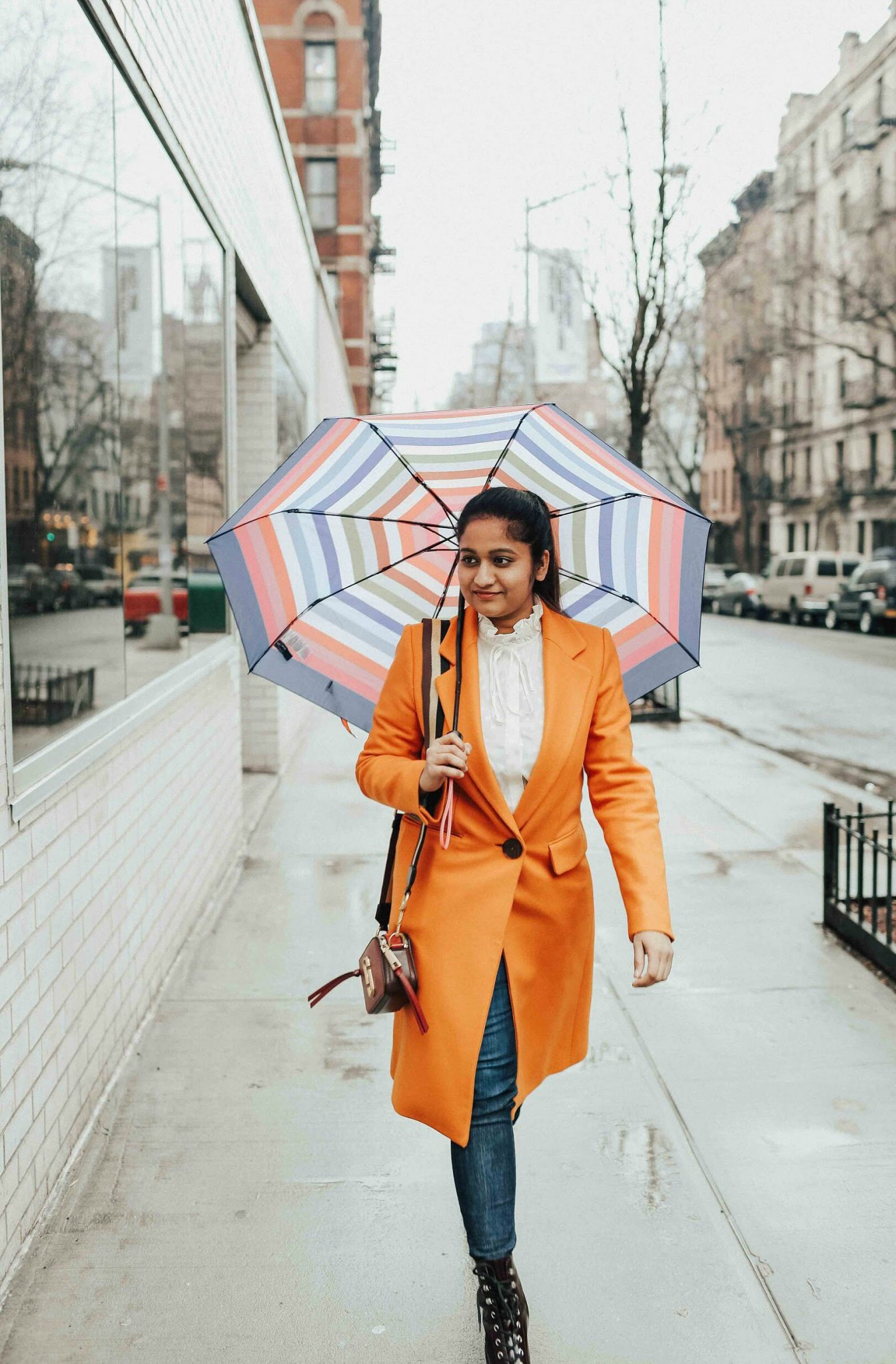 wearing Mango Structured wool coat | | NYFW outfit featured by popular US modest fashion blogger, Dreaming Loud