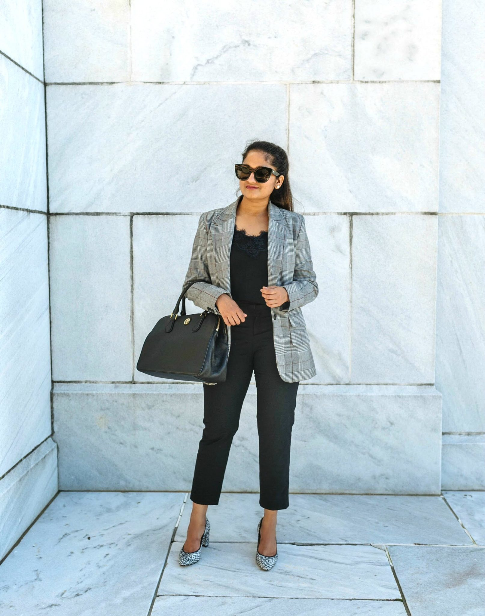 How to wear monochrome outfits to work | Colorful Fall Work Outfits featured by popular Ohio modest fashion blogger, Dreaming Loud