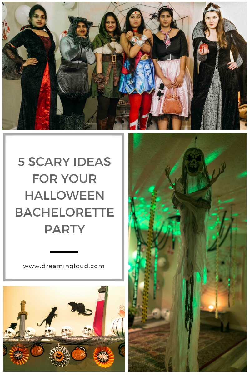 5 Scary Fun Ideas for your Halloween Bachelorette Party- Costumes, Decorations and Games featured by top Ohio life and style blog, Dreaming Loud