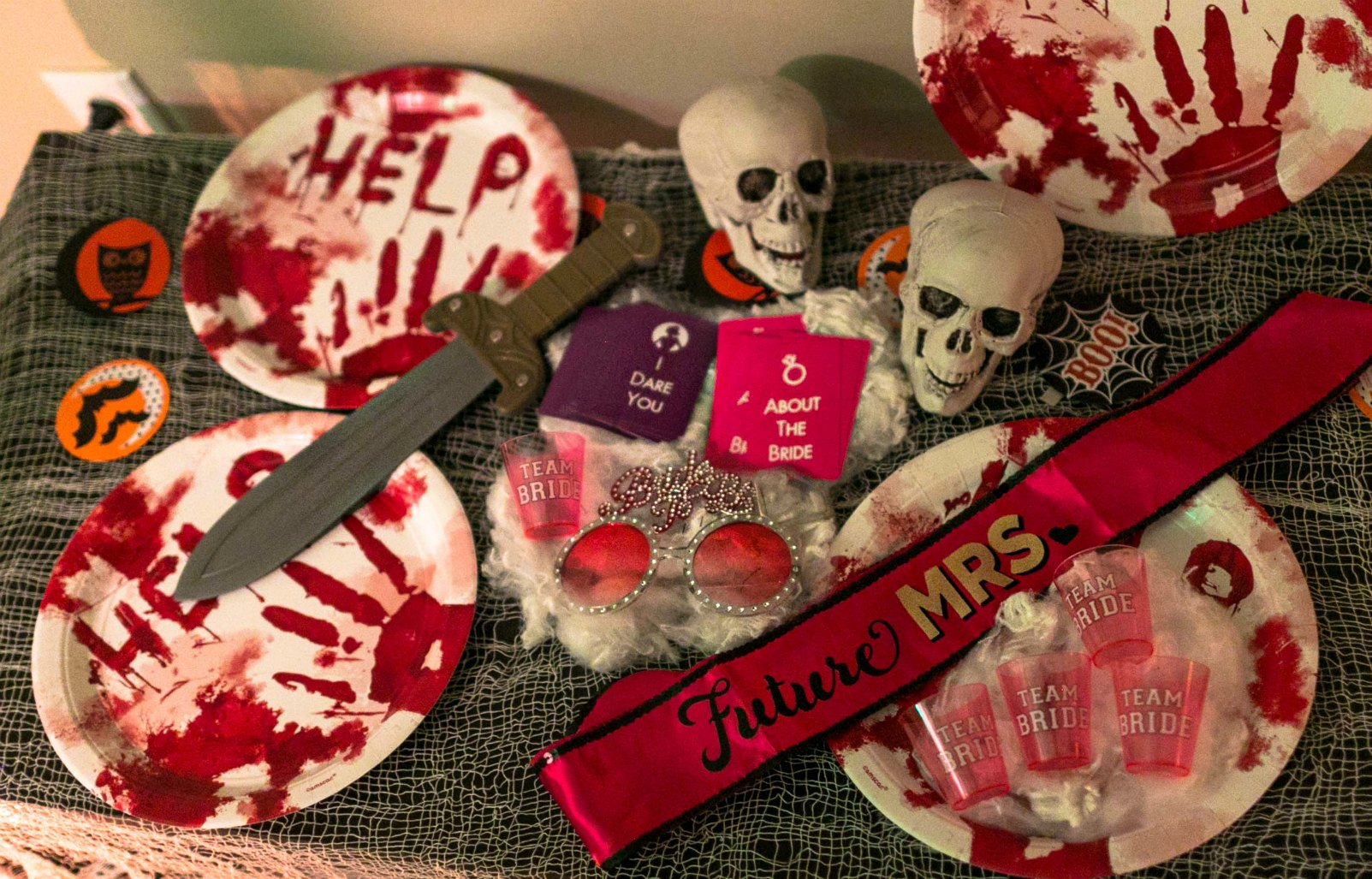 Bachelorette Party game ideas5 Scary Fun Ideas for your Halloween Bachelorette Party- Costumes, Decorations and Games featured by top US life and style blog, Dreaming Loud