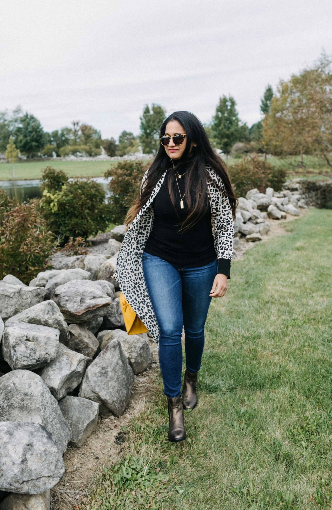 Wearing Aetrex Kaitlyn Bronze Booties | Aetrex fall booties featured by top Ohio fashion blog, Dreaming Loud