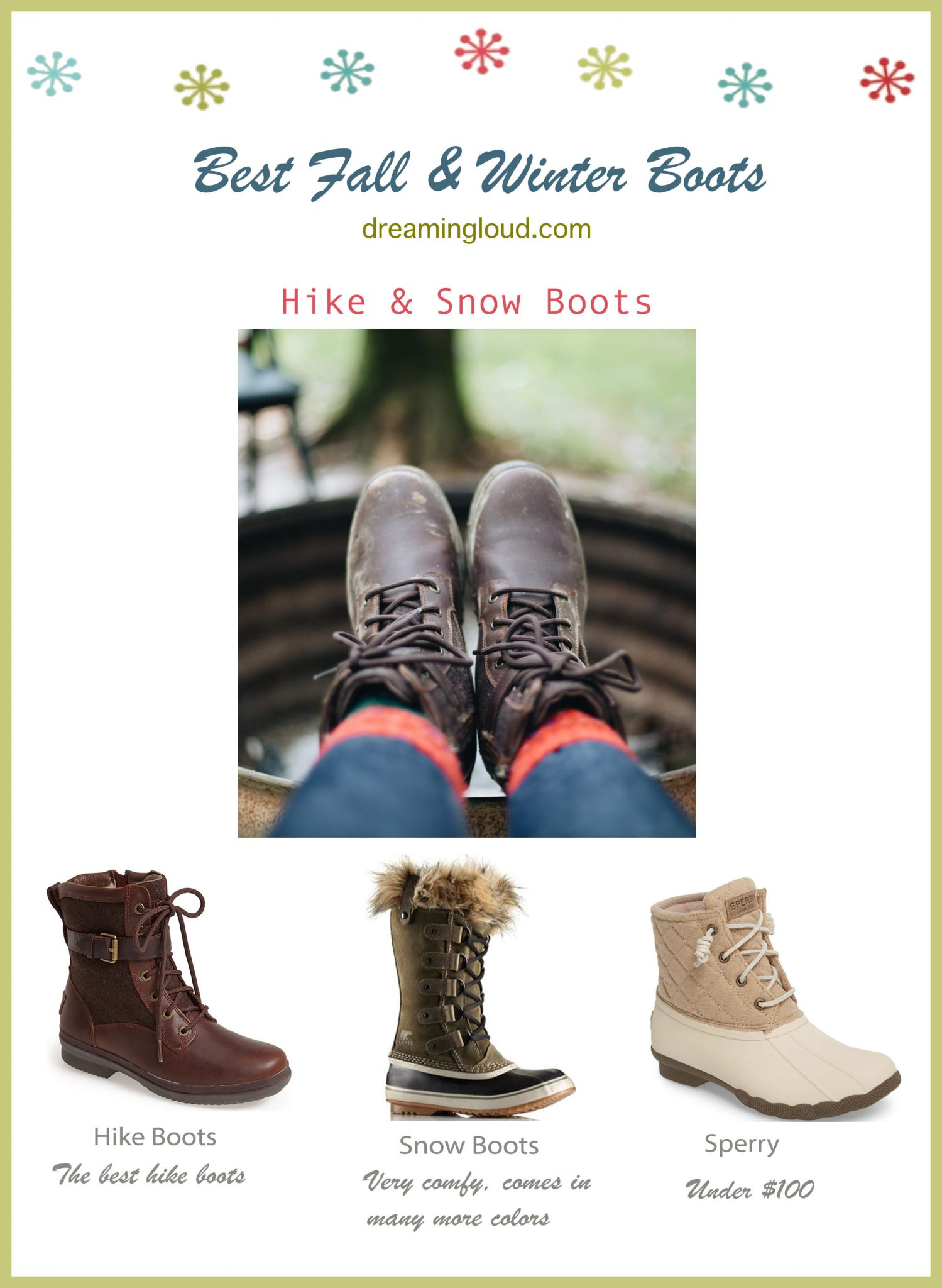 Best Fall and Winter boots- Hike and Snow Boots under $150 | The Best Fall Boots Under $150 featured by top US fashion blog, Dreaming Loud