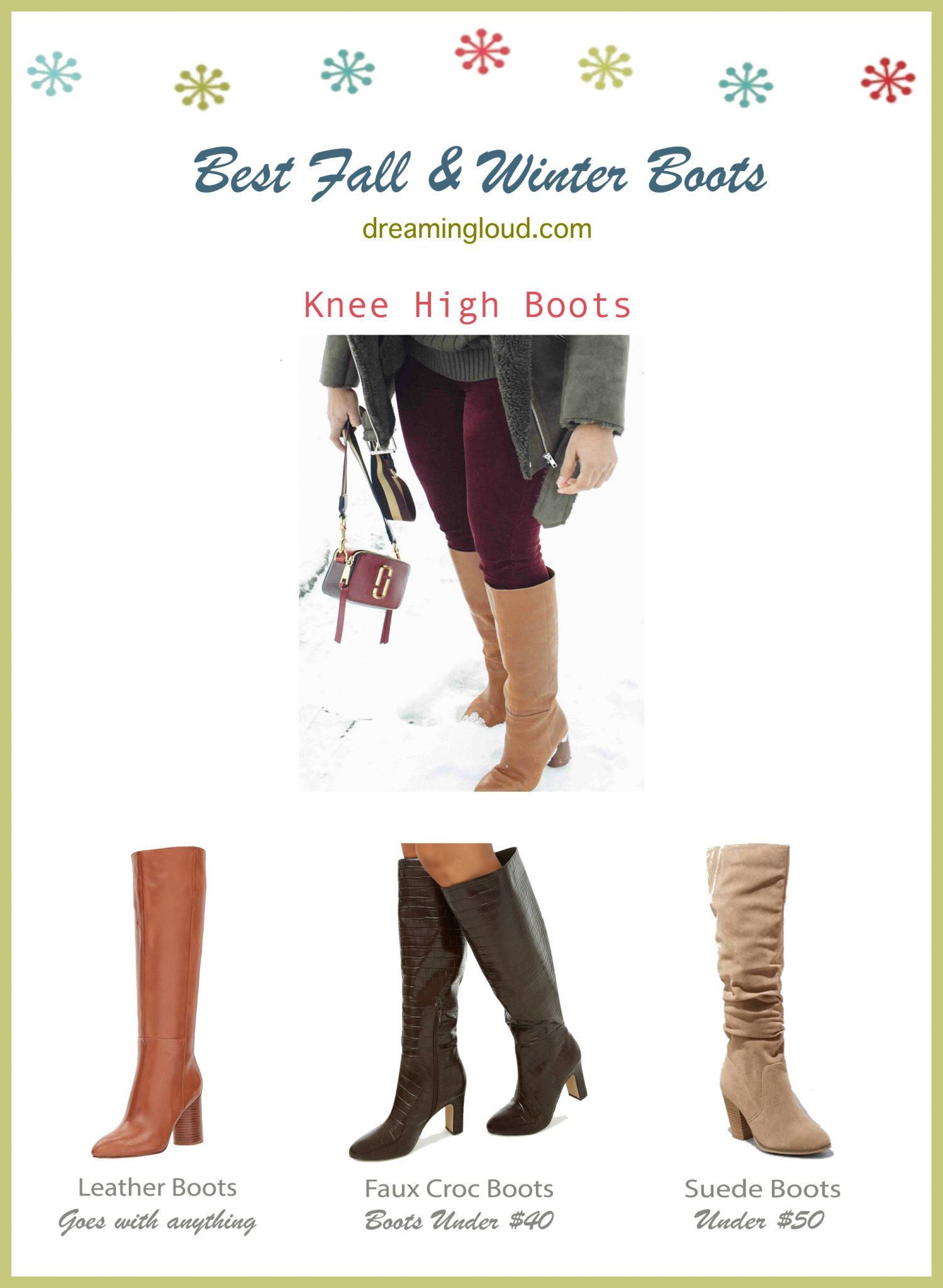 Best Fall and Winter boots- Knee High Boots