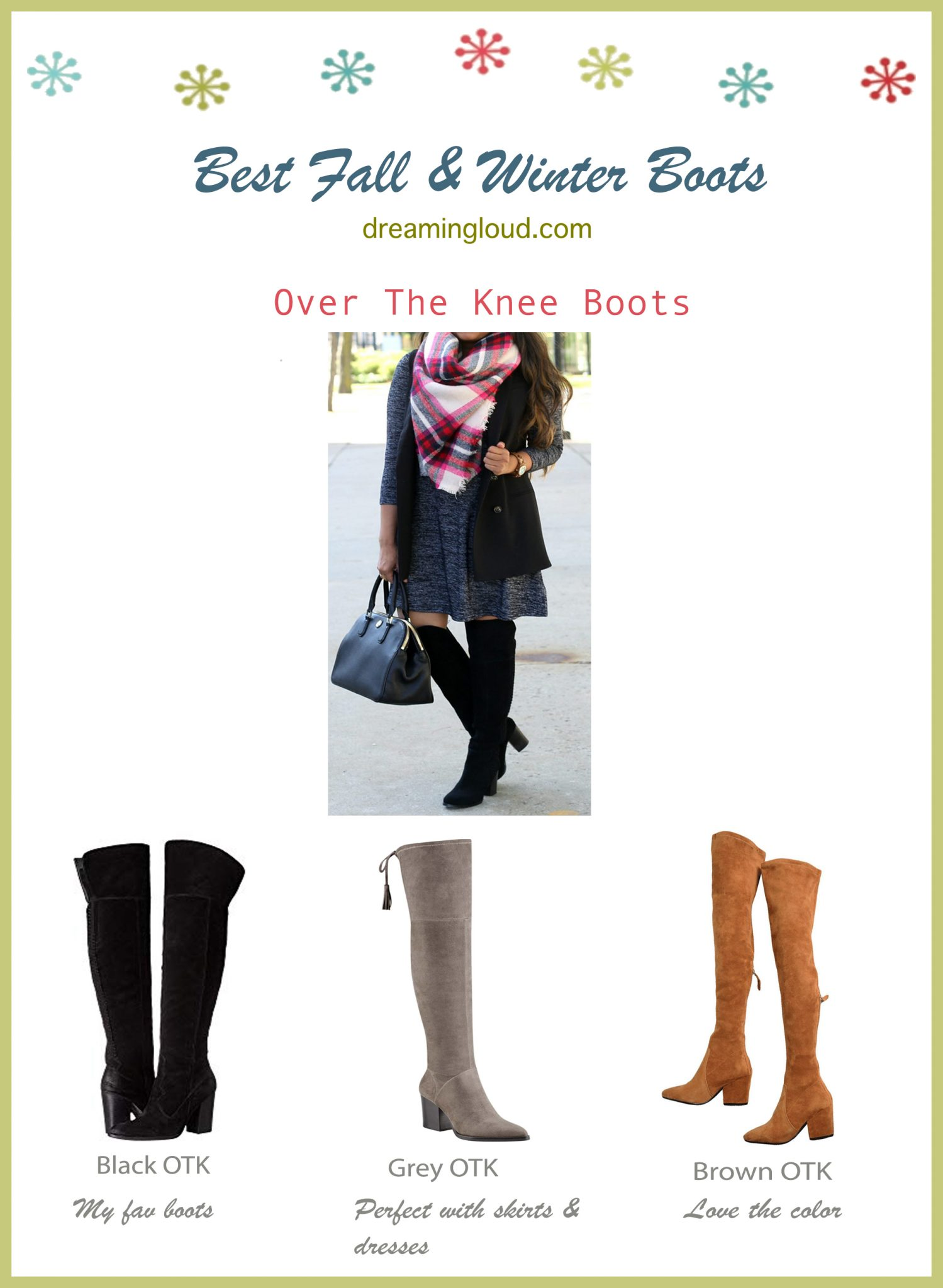 Best Fall and Winter boots- OTK boots Under $150 | The Best Fall Boots Under $150 featured by top US fashion blog, Dreaming Loud: over the knee leather boots