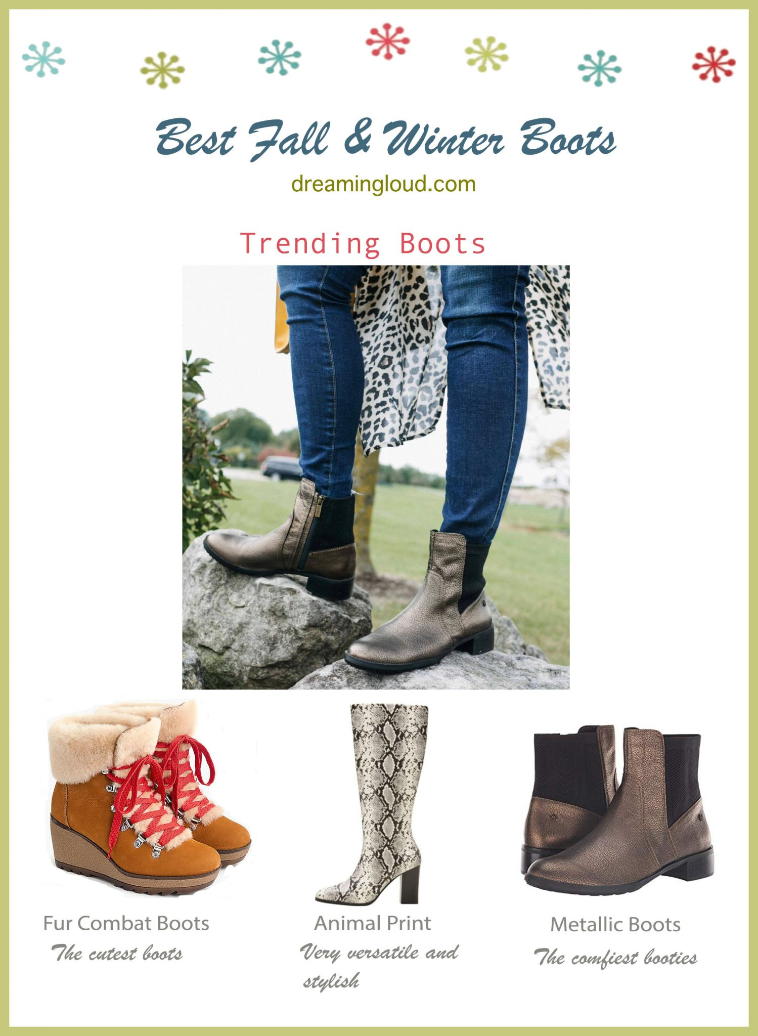 Best Fall and Winter boots- Trending Boots Under $150 | The Best Fall Boots Under $150 featured by top US fashion blog, Dreaming Loud: over the knee leather boots: metallic boots