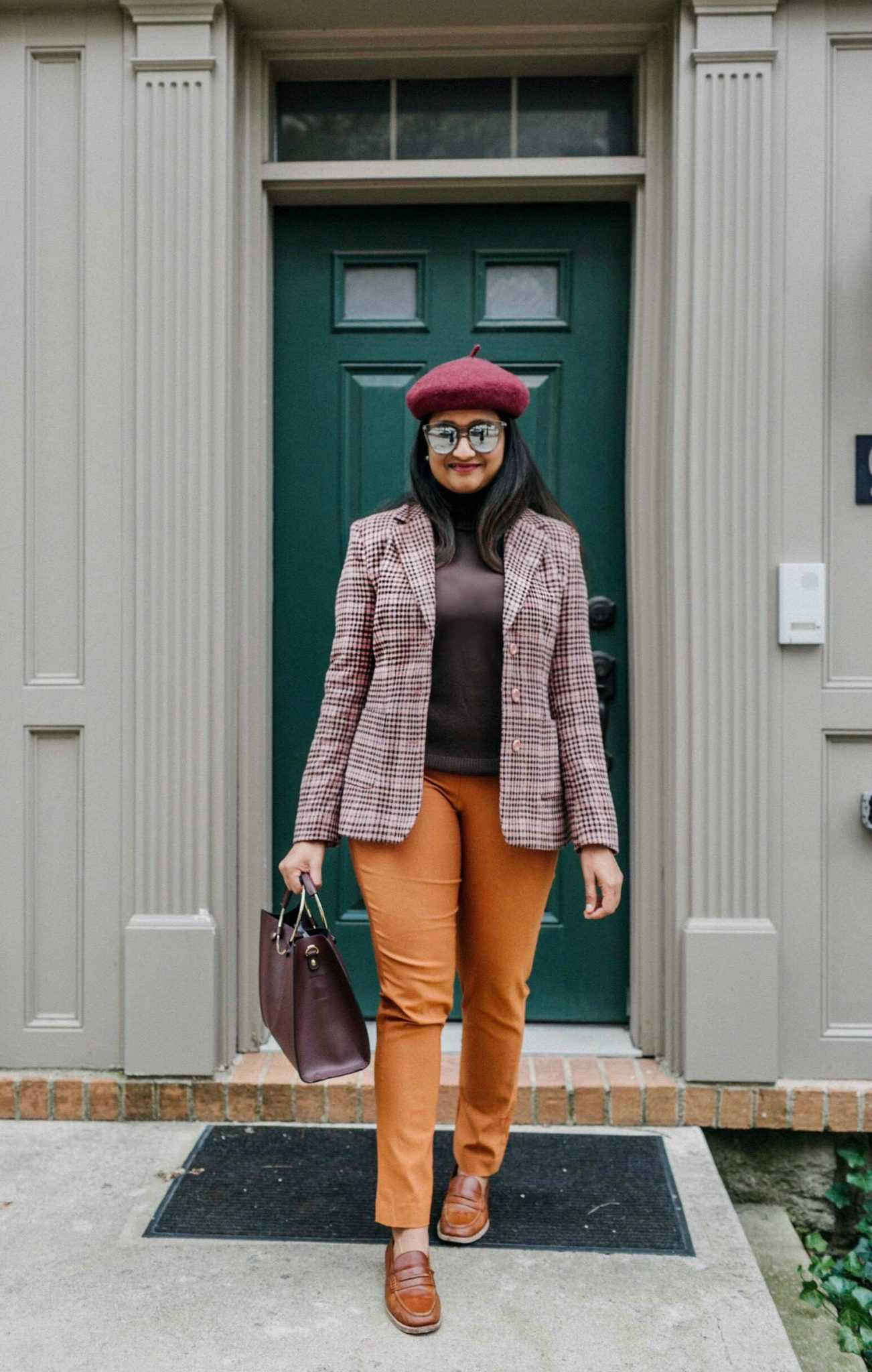wearing Chadwicks of Boston Signature Bi-Stretch Straight Leg Pant | dressy and Chic Thanksgiving outfit ideas| 13 Cozy and Cute Thanksgiving outfit ideas featured by top US modest fashion blog, Dreaming Loud