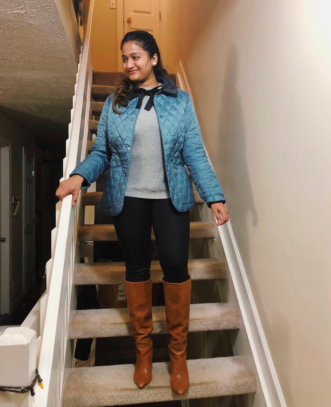 Wearing Barbour Barbour Annandale Quilted Jacket | Your Complete Guide to the Best Black Friday Fashion Deals featured by top Ohio modest fashion blog, Dreaming Loud