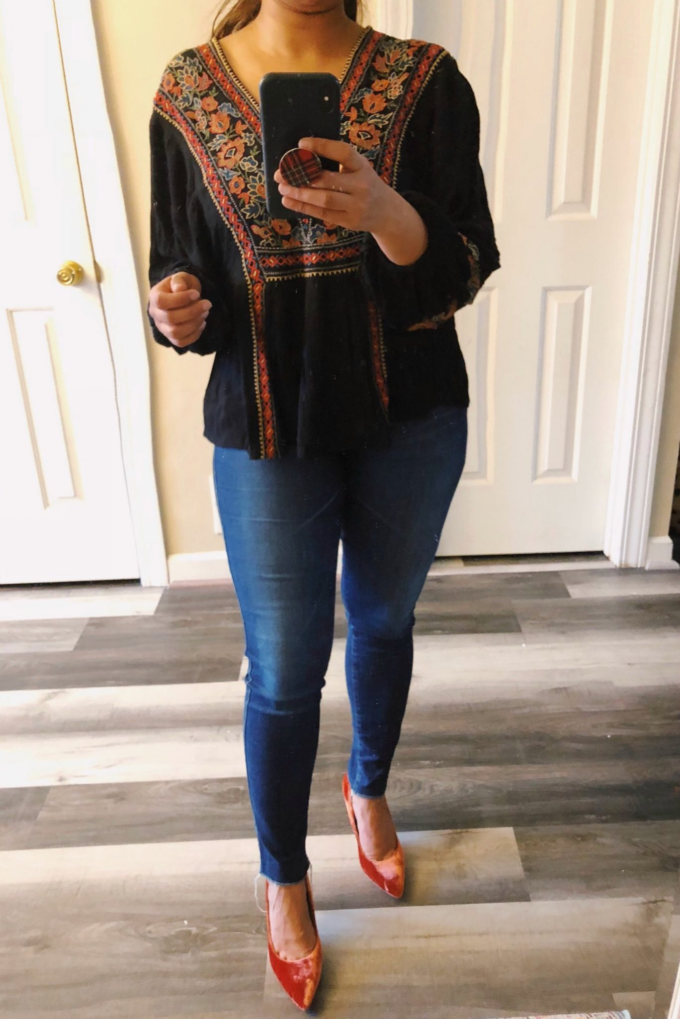 wearing ag AG 'The Legging' Ankle Jeans | Your Complete Guide to the Best Black Friday Fashion Deals featured by top Ohio modest fashion blog, Dreaming Loud