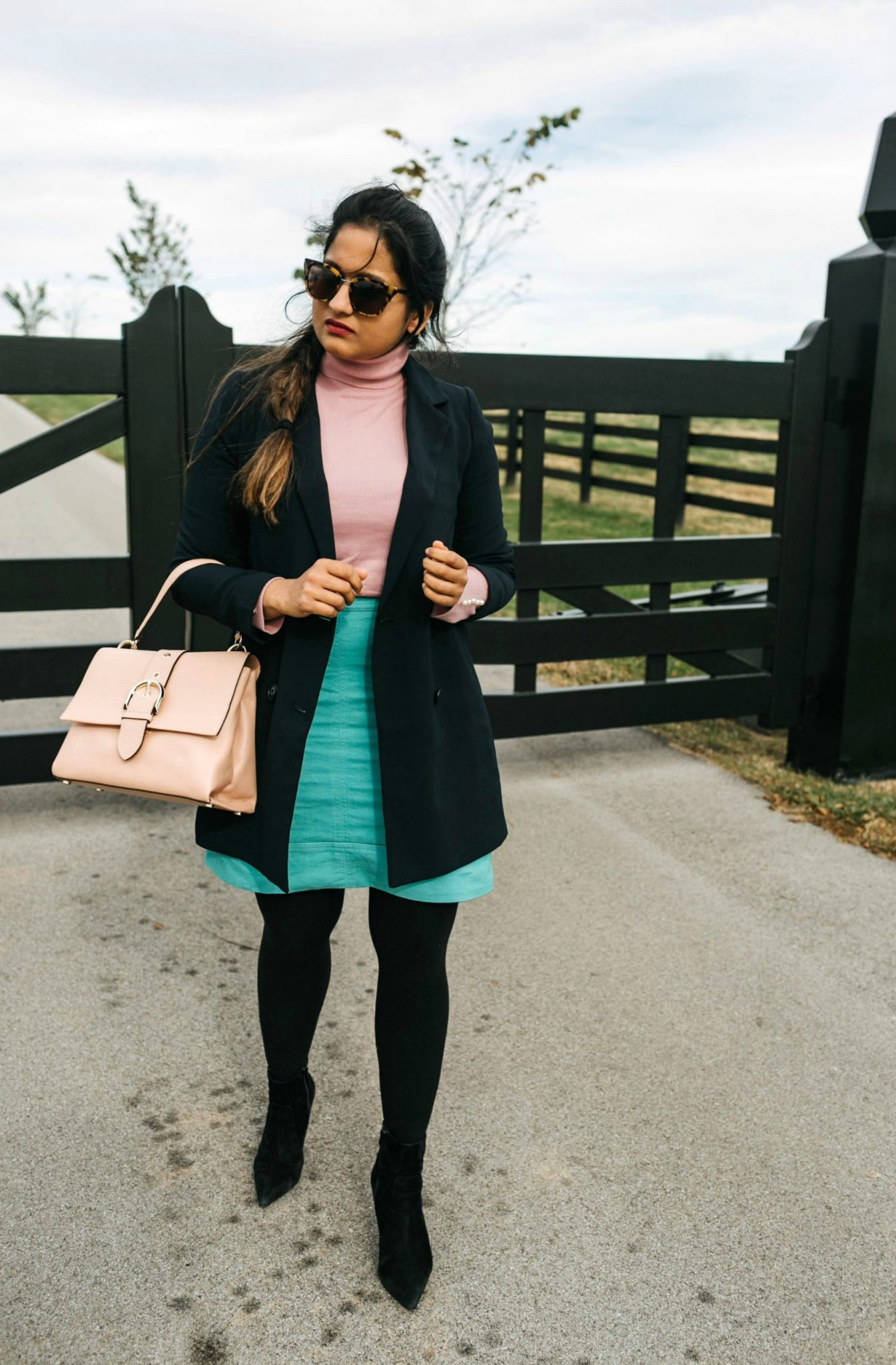 wearing madewell Caldwell Double-Breasted Blazer 1 | Your Complete Guide to the Best Black Friday Fashion Deals featured by top Ohio modest fashion blog, Dreaming Loud