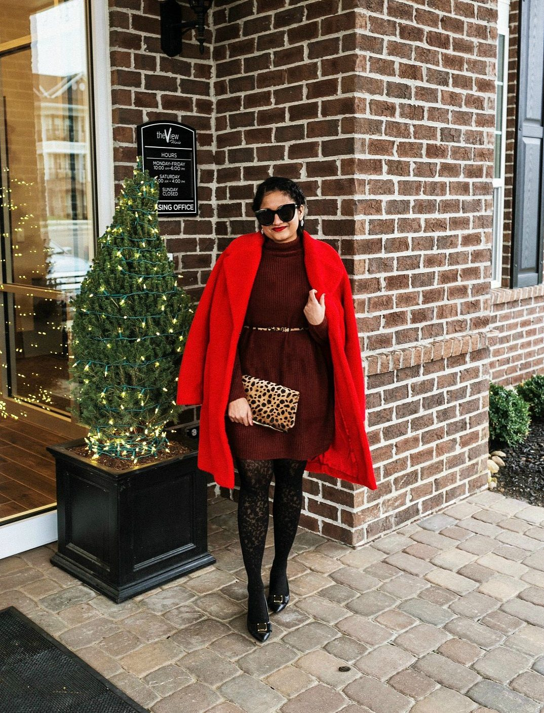 How to wear sweater dresses in winter 2