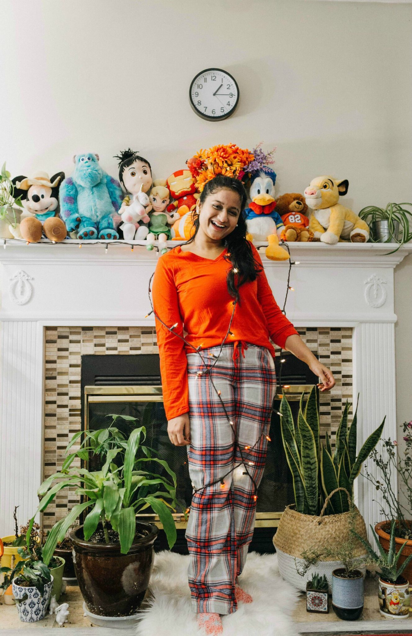 wearing SONOMA Goods for Life 3-Piece Tee, Pants and Sock Pajama Set | 7 Kohl's Gifts Under $25 featured by top US life and style blog, Dreaming Loud: image of a woman wearing some SONOMA Holiday PJs available at Kohls