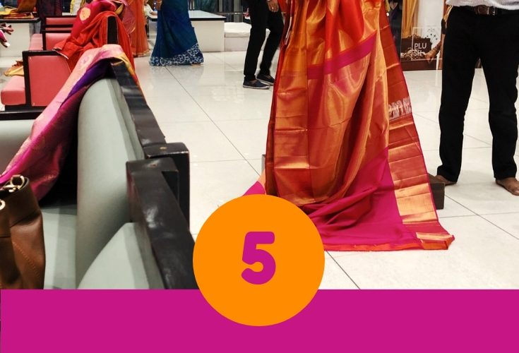 | South indian wedding saree trends featured by top US and Indian fashion blog, Dreaming Loud