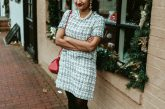 how to wear tweed dresses in winter and spring | Thoughts on Defining Priorities featured by top US modest fashion blog, Dreaming Loud: image of a woman wearing a SheIn tweed dress, Carolee pearl necklace, red bow pumps