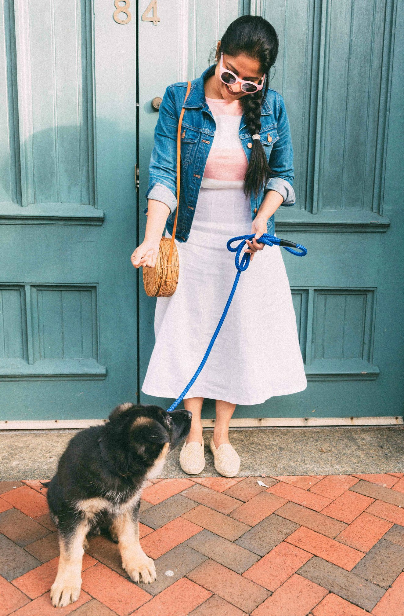 Top US lifestyle blogger, Surekha of Dreaming Loud, features their new German Shepard puppy, Bagheera