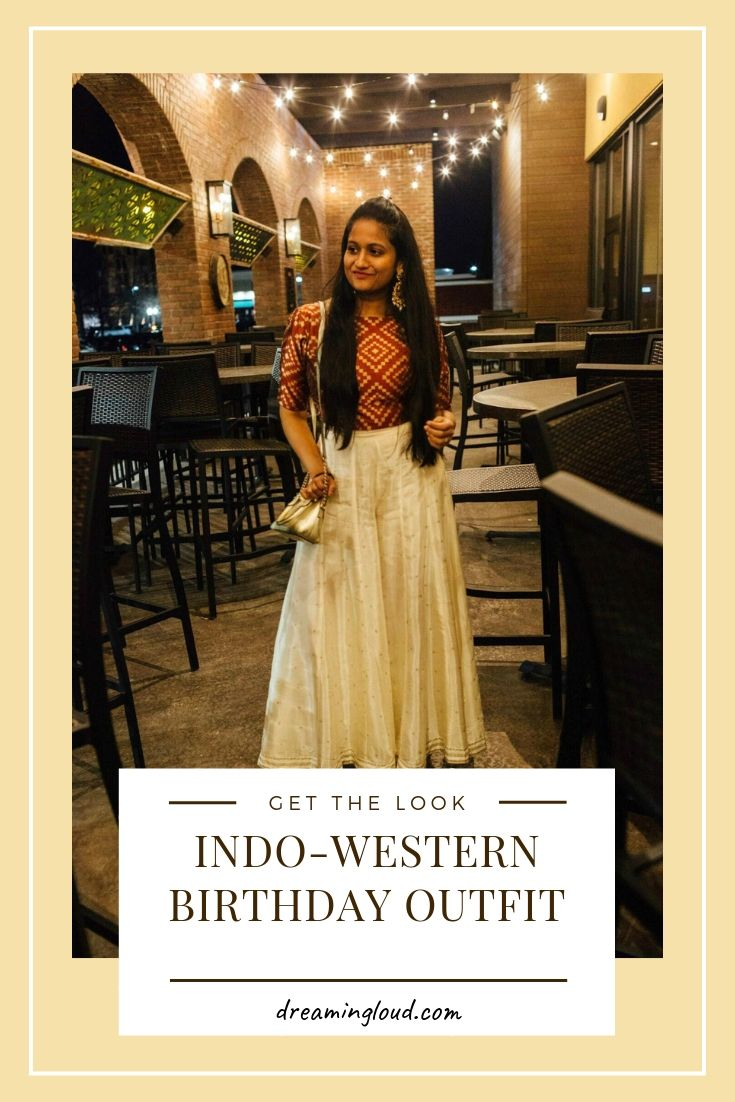 perfect Indo-Western birthday outfit