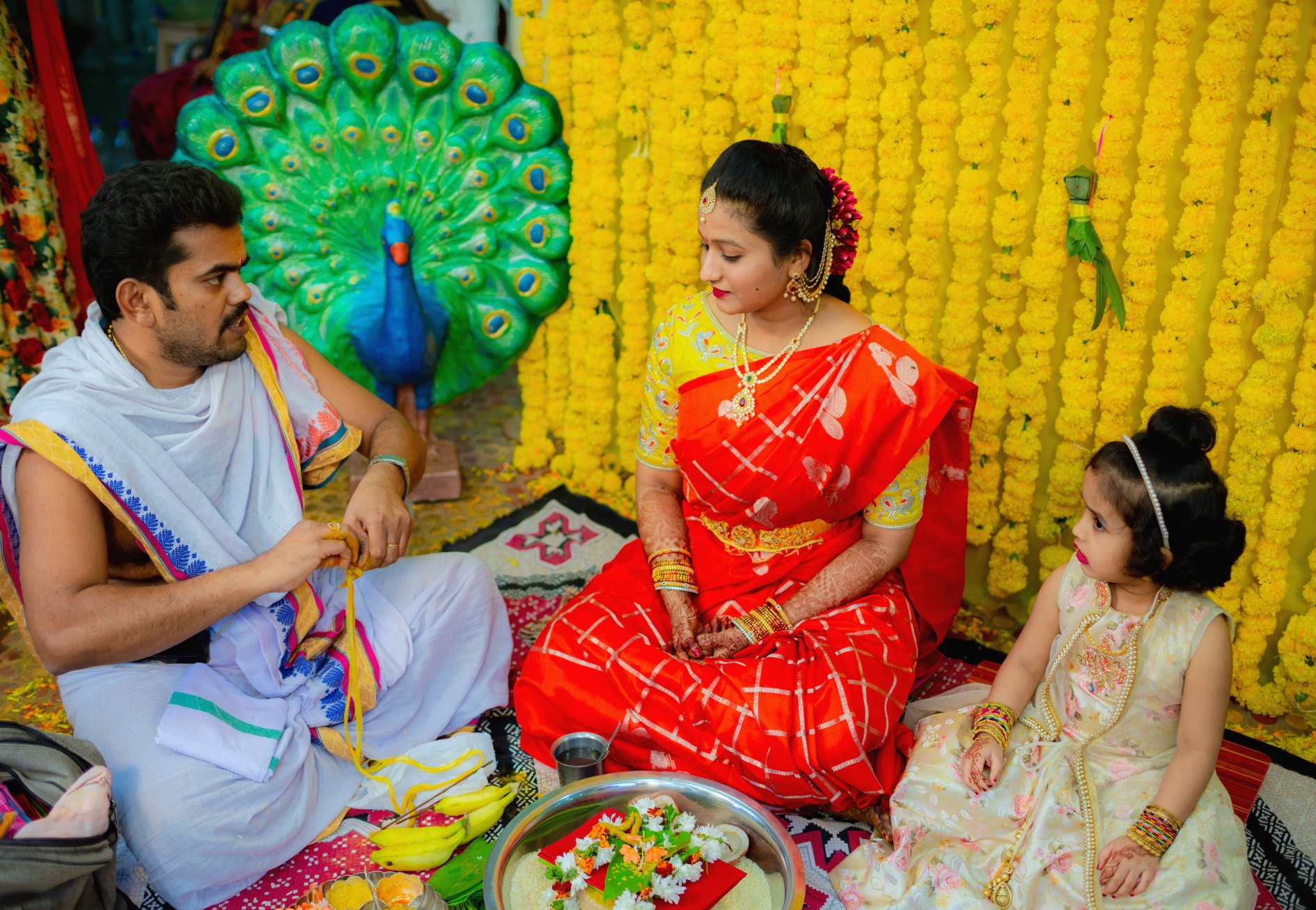 15 Hindu Telugu Rituals for your Traditional Indian Wedding Day featured by top US life and style blog, Dreaming Loud: image of Gowri Puja Significance